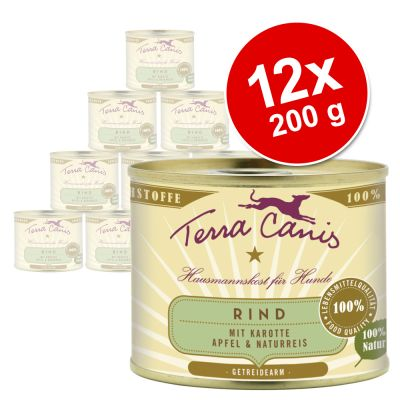 Terra Canis -säästöpakkaus 12 x 200 g - mix 1: naudanliha & porkkana + kalkkuna & parsakaali
