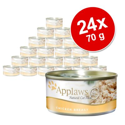 Ekonomipack: Applaws kattfoder 24 x 70 g – Makrill & sardiner