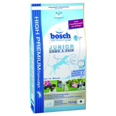 Bosch Junior Lamm & ris – Ekonomipack: 2 x 15 kg