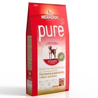 Meradog Pure Grain-Free Turkey & Potato - säästöpakkaus: 2 x 12,5 kg