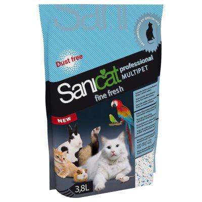 Sanicat Professional Multipet Fine Fresh - Ekonomipack: 5 x 3,8 l
