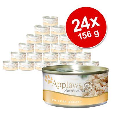Ekonomipack: Applaws kattfoder 24 x 156 g – Tonfiskfilé & ost