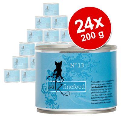 Ekonomipack: Catz Finefood på burk 24 x 200 g – Kyckling & tonfisk