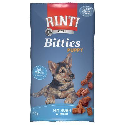 RINTI Extra Bitties Puppy -kanaherkut - 2 x 75 g (kana & ankka)