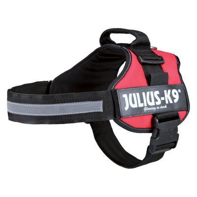 JULIUS-K9® Power -koiranvaljaat, punainen - rinnanympärys 71 - 96 cm (2-koko)