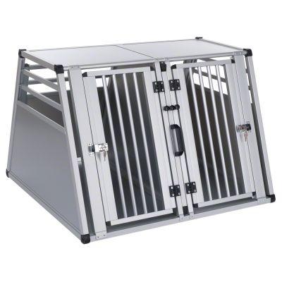 Aluline Double Dog Crate - Size Xl: 97 X 92 X 68 Cm (l X W X H)
