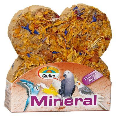 Kostka minerałowa z kwiatami dla ptaków Quiko - 1 sztuka