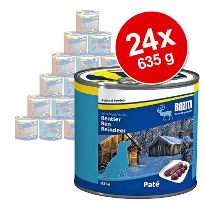 Ekonomipack: Bozita våtfoder, blandade smaker 24 x 635 g – Kyckling & ris/Nötkött & ris