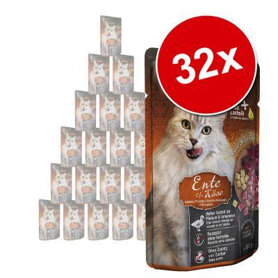 Leonardo Finest Selection Pouch -säästöpakkaus 32 x 85 g - taimen & kissanminttu