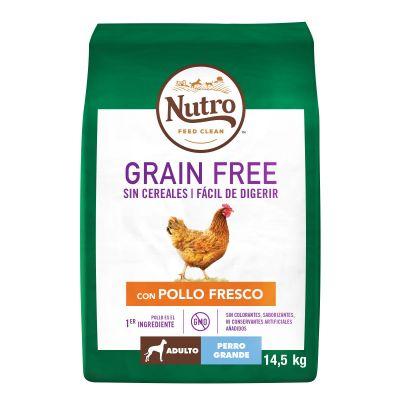 Nutro Grain Free Adult Large Pollo para perros - 2 x 14,5 kg - Pack Ahorro