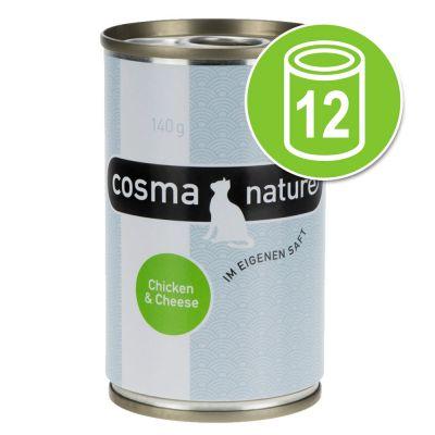 Cosma - Cosma Nature Voordeelpakket Kattenvoer 12 x 140 g - Kipfilet