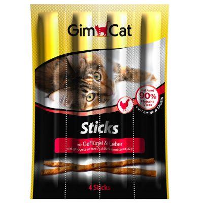 GimCat Sticks, siipikarja - 3 x 4 kpl
