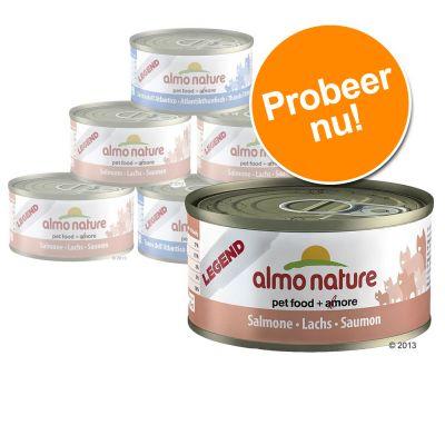 6 x 70 g Almo Nature, 3 smaken gemengd, kattenvoer Kippakket