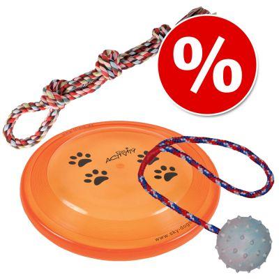 Trixie-lelusetti: köysilelu, frisbee, kumipallo - Trixie-lelusetti