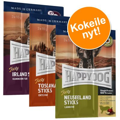 Happy Dog Tasty Sticks -kokeilupaketti - 9 x 10 g (3 makua)