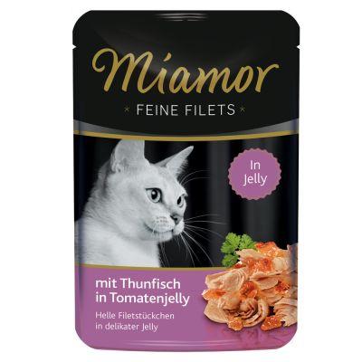 Megapakiet Miamor Feine Filets w saszetkach, 24 x 100 g - Kurczak z tuńczykiem