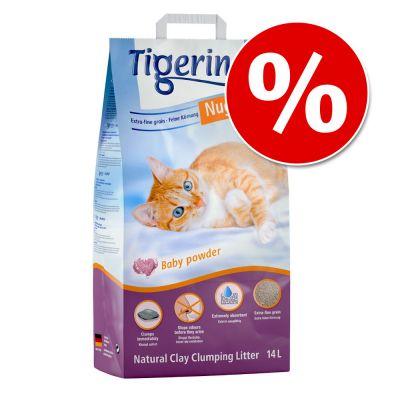 Nu 13 l + 1 l gratis! 14 l Tigerino Nuggies Kattenbakvulling - Babypoedergeur