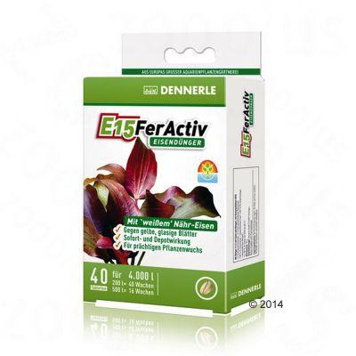 Dennerle E15 FerActiv järngödning – 100 tabletter, för 10000 l vatten