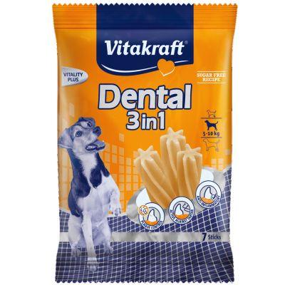 Vitakraft Dental 3in1 small -monipakkaus – 4 x 120 g