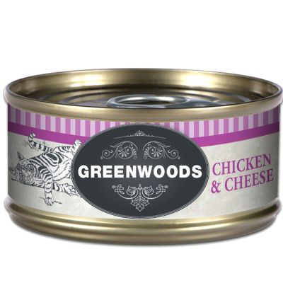 Greenwoods Adult Chicken & Cheese - 6 x 70 g