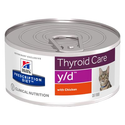 Hill´s Prescription Diet Feline y/d Thyroid Care - kana - 12 x 156 g