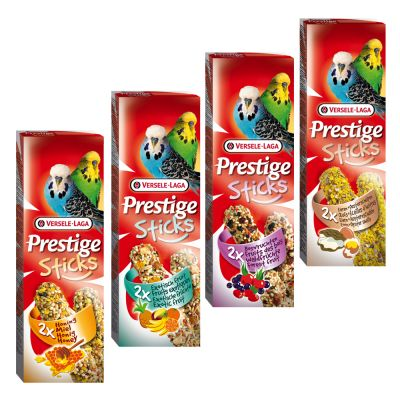 Mixed Pack Versele Laga Prestige Sticks undulaateille - 4 x 2 kpl (240 g)