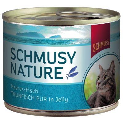 Schmusy Nature Fish - 24 x 185 g puna-ahven