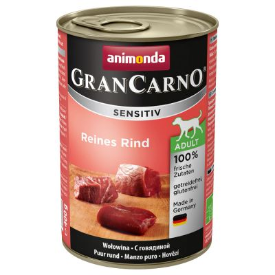 Animonda GranCarno Sensitive 6 x 400 g - mix, 6 makua