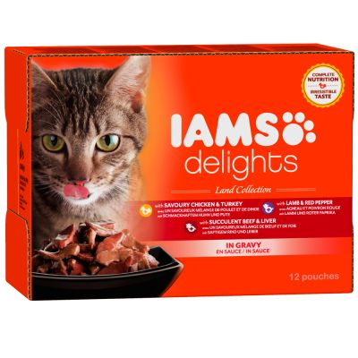 iams-delights-adult-in-saus-12-x-85-g-kattenvoer-land-sea-mix