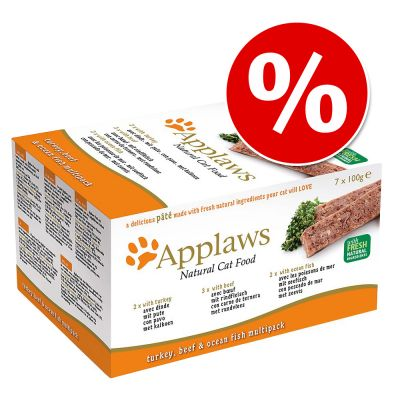 28 x 100 g Applaws Cat Paté -märkäruokaa erikoishintaan! - Orange Selection