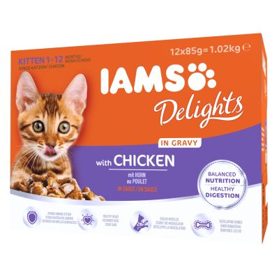 IAMS Delights Kitten in Sauce - 24 x 85 g kana