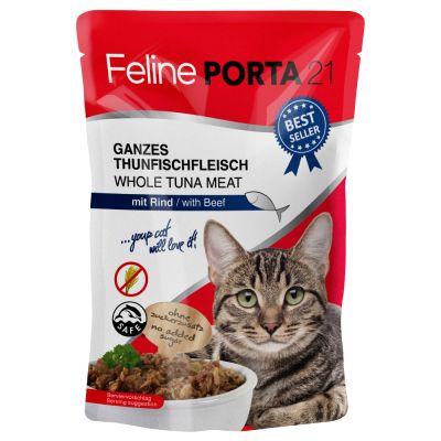 Feline Porta 21 -tuorepussit 6 x 100 g – tonnikala & surimi (viljaton)