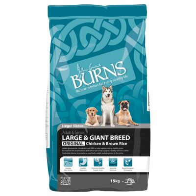 Burns Adult Large and Giant Breed - Chicken & Rice Hondenvoer - 15 kg