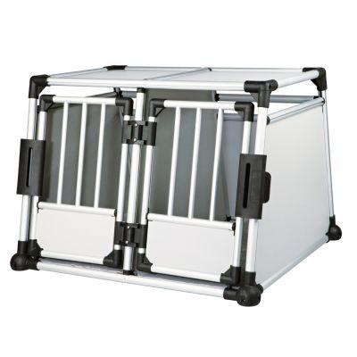 Trixie Aluminium -tuplakuljetuslaatikko - L 93 x S 88 x K 64 cm (M-L-koko)