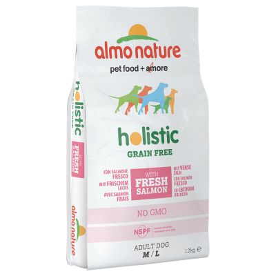 Almo Nature Holistic Grain Free Medium/Large – Adult Salmon & Potatoes – 12 kg