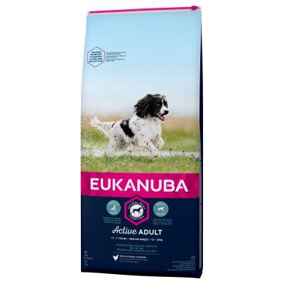 Eukanuba Active Adult Medium Breed Huhn
