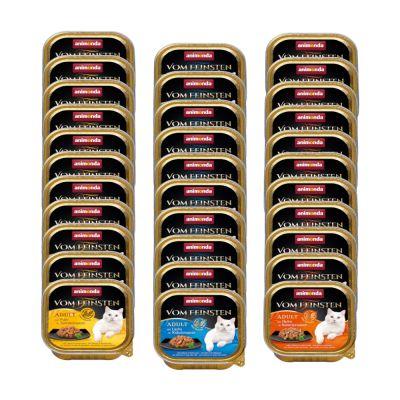 Image of 32 x 100 g Animonda vom Feinsten + 4 x 15 g Milkies Snacks gratis! - Fisch & Fleisch Vielfalt (4 Sorten)