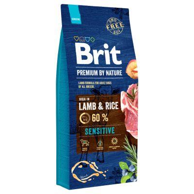 15 / 8 kg Brit granule  +  Rocco Sticks hovězí zdarma! Nature Adult M 15 kg (kuřecí)