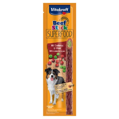 Vitakraft Beef Stick Superfood 15 x 25 g - chia & porkkana