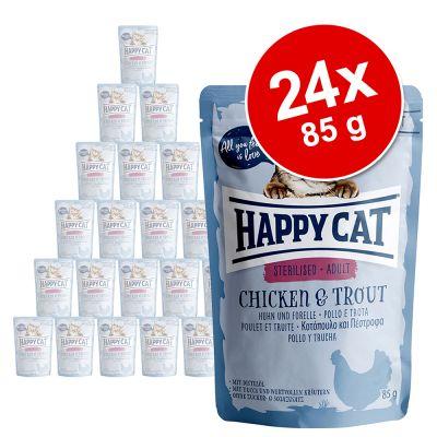 Happy Cat Pouch All Meat 24 x 85 g - kana & ankka