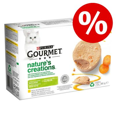 12 x 85 g Gourmet Nature's Creations erikoishintaan! - Pate: kana & porkkana