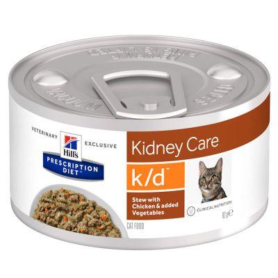 Hill´s Prescription Diet k/d Kidney Care Ragout met Kip voor Katten - 12 x 82 g