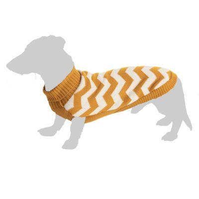 Zickzack koiran villapaita - S: selän pituus n. 25 cm
