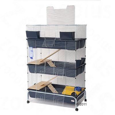 Essegi Baffy 100 smådjursbur, tre våningar – B 100 x D 53 x H 150 cm