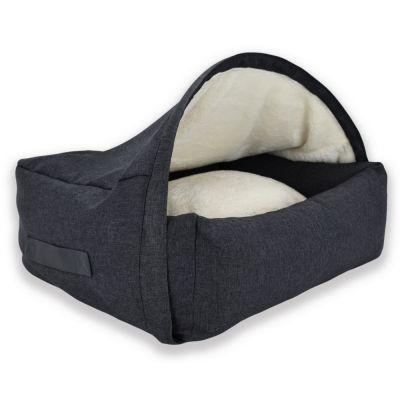 Sleepy Fox® -koiranmaja, harmaa - L: P 75 x L 105 x K 65 cm