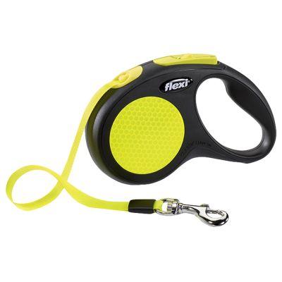 flexi New Neon S - 5m nauha - musta/neon