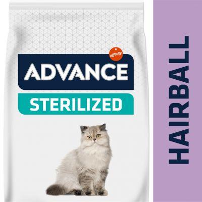 Advance Sterilized Hairball con pavo - 2 x 10 kg - Pack Ahorro