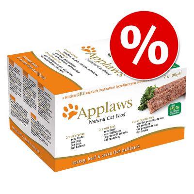 Applaws Cat Paté -säästöpakkaus 28 x 100 g - Orange Selection + Green Selection