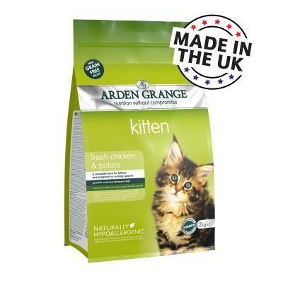 Arden Grange Kitten poulet, pommes de terre pour chat - 2 x 2 kg