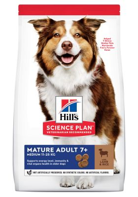 Hill's Mature Adult 7+ Medium Science Plan con cordero y arroz - 14 kg